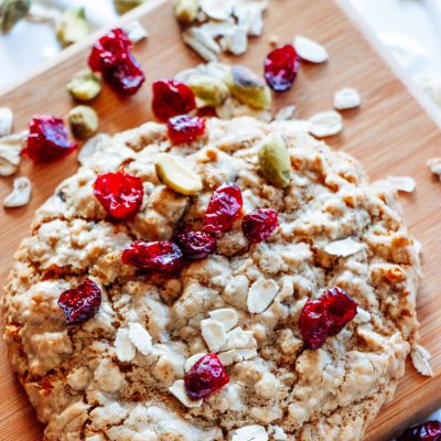 Cranberry Pistachio Breakfast Cookie