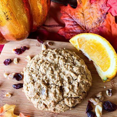 Cranberry Orange Walnut Breakfast Cookie